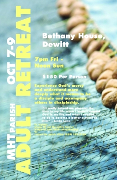 A flyer that I created for a church retreat.