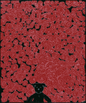 red roses on back color for web